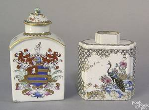 Two Chinese export porcelain tea caddies 18th c