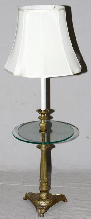 MID CENTURY MODERN FLOORTABLE LAMP TABLE