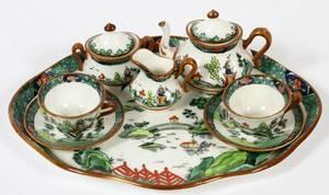 ROYAL CROWN DERBY PORCELAIN MINIATURE TEA SET