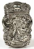 ART NOUVEAU STERLING MATCH SAFE C 1900