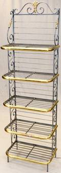 FRENCH BAKERS BRASS  ALUMINUM RACK