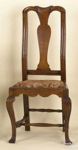 Massachusetts Queen Anne maple dining chair ca 1750