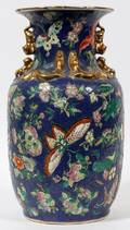 CHINESE PORCELAIN BUTTERFLY VASE 20THC