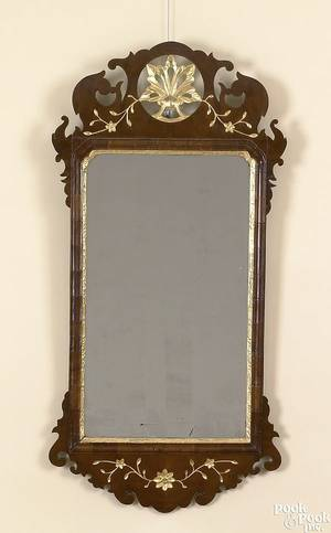 Chippendale mahogany looking glass ca 1780