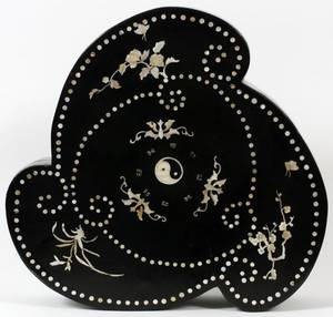 CHINESE MOTHER OF PEARL  BLACK LACQUER BOX
