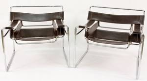 Pair of Wassily Lounge Chairs After Marcel Breuer