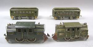 Lionel engine 33 engine 50 and 7 passenger and freight cars 9 pcs