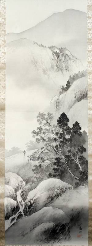 CHINESE WATERCOLOR SCROLL ON PAPER