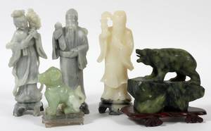 CHINESE CARVED STONE FIGURES FIVE8