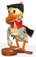 STUFFED FELT  WIRED CHARACTER DUCK DOLL