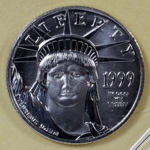 US 110 OZ PLATINUM 10 COIN 1999