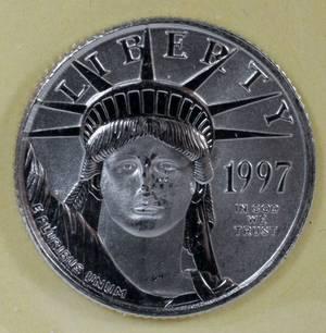 US 110 OZ PLATINUM 10 COIN 1997