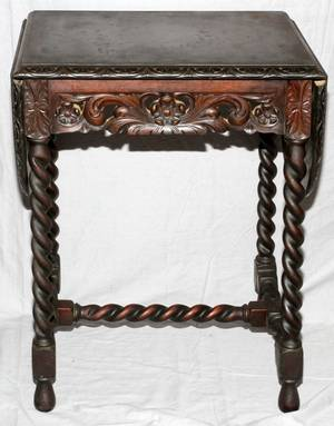 ENGLISH MAHOGANY DROP LEAF TABLE