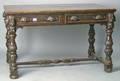 Jacobean style oak center table