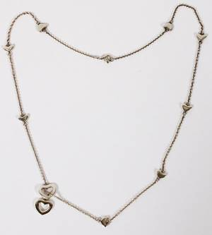 T CO STERLING SILVER NECKLACE HEART  LARIAT