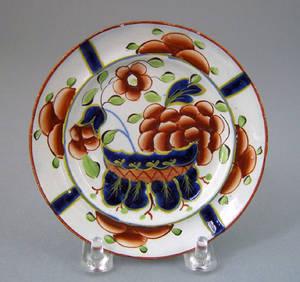 Gaudy Dutch toddy plate
