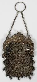 STERLING SMALL CHANGE MESH PURSE W COCHAINMALL
