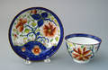 Gaudy Dutch cup and saucer