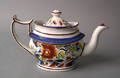 Fine Gaudy Dutch single rose teapot 19th c