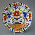 Gaudy Dutch urn plate