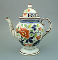 Gaudy Dutch coffee pot