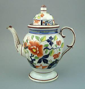 Gaudy Dutch coffee pot