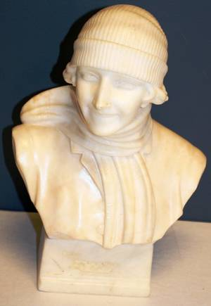 A MICHELETTI MARBLE BUST OF WOMAN