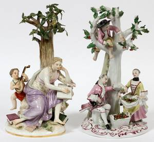 MEISSEN  FRENCH PORCELAIN FIGURE GROUPS TWO