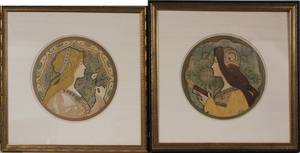JANE ATCHEART NOUVEAU LITHOGRAPHS LATE 19TH C 2
