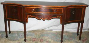 022080 ENGLISH HEPPLEWHITE STYLE MAHOGANY SIDEBOARD