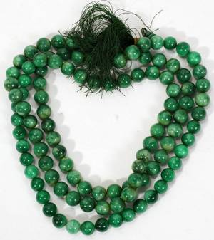 041117 MODERN CHINESE GREEN JADE NECKLACE 32
