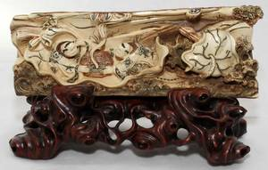 031098 CHINESE IVORY CARVING H 3 L 7 34