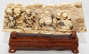 031104 CHINESE IVORY CARVING OF BUDAI H 2 34