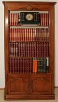 031186 WALNUT PROVINCIAL STYLE BOOKCASE H 76