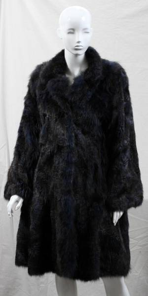 030099 WRUBEL  KOZIN FULL LENGTH FOX FUR COAT L 40