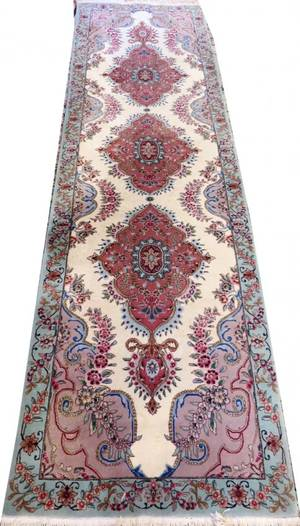 PERSIAN HANDWOVEN WOOL  SILK RUNNER