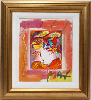 032096 PETER MAX 1937 MIXED MEDIA ON CANVAS