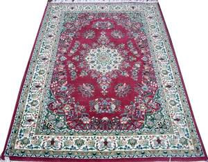 030138 ISFAHAN HAND WOVEN WOOL PERSIAN CARPET 4 X 6