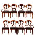 Set of 8 Biedermeier Style Cherry Dining Chairs