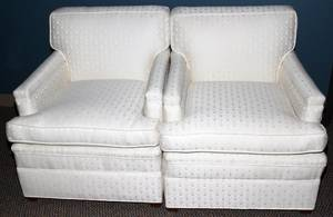 040093 LAWSON STYLE UPHOLSTERED ARM CHAIRS PAIR 32