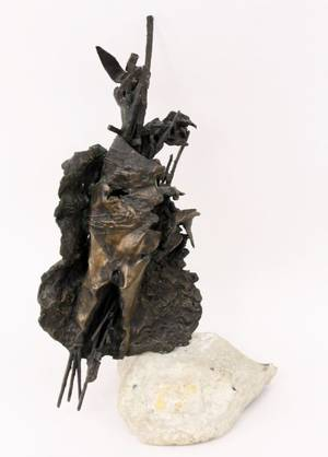 Lilyan Barchoff War Bronze Sculpture