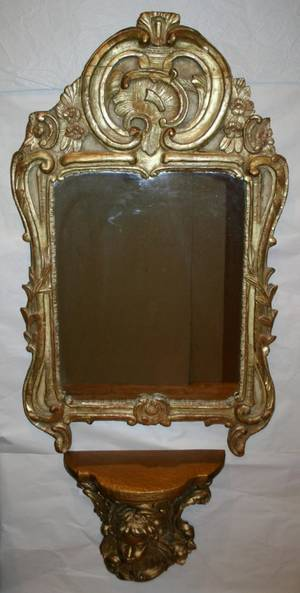 060196 ITALIAN GILT WOOD MIRROR AND CONSOLE H 46