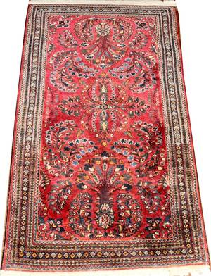 032191 SAROUK SEMIANTIQUE PERSIAN WOOL RUG