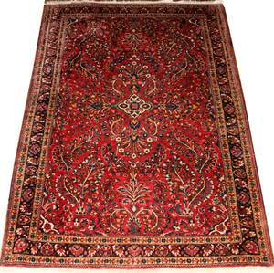 032190 SAROUK SEMIANTIQUE PERSIAN WOOL RUG