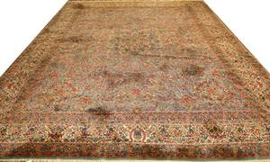 PERSIAN KERMAN HANDWOVEN WOOL RUG
