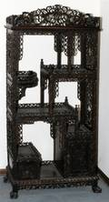CHINESE CARVED WOOD TAGRE