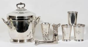 051285 SILVERPLATE THERMOS ICE BUCKET AND BAR WARE