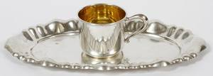 STERLING SILVER TRAY  CUP TWO