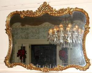 041372 ITALIAN GILT WOOD MIRROR C 1930 39 X 47