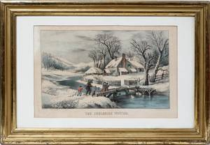 040243 AFTER CURRIER  IVES LITHO THE INGLESIDE